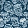 Ultralight Tube - White Blu Skulls - donna Bullish Made in Italy