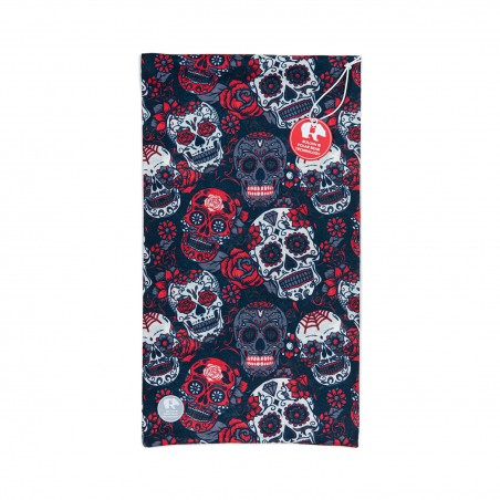 Ultralight Tube - Red White Skulls - donna Bullish Made in Italy