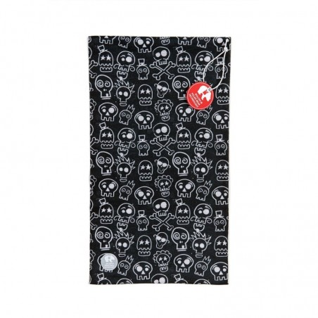Ultralight Tube Reversible Pile Stretch - Skulls - Uomo Bullish Made in Italy