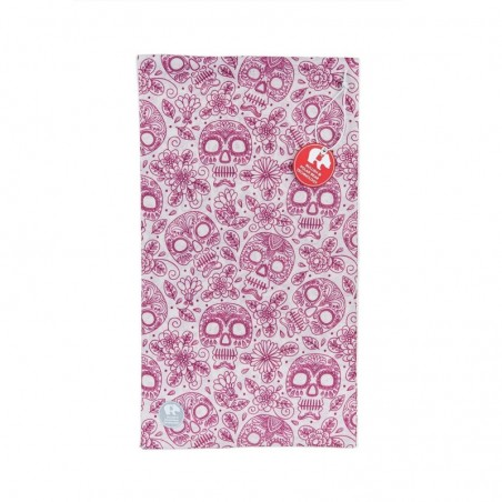 Ultralight Tube Reversible Pile Stretch - Pink Skulls - Donna Bullish Made in Italy
