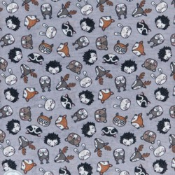 Ultralight Tube Reversible Pile Stretch - Little Animals - Donna Bullish Made in Italy