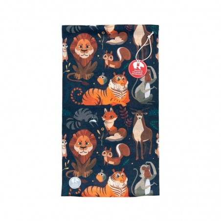 Ultralight Tube Reversible Pile Stretch - Forest Animals - Donna Bullish Made in Italy