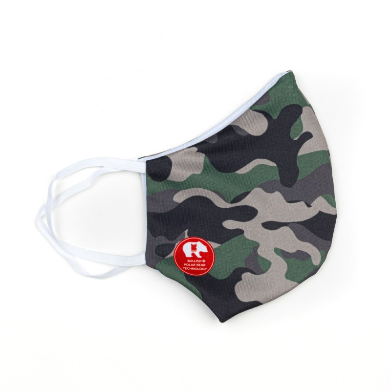 Mascherina Camouflage - Bambino Bullish Made in Italy