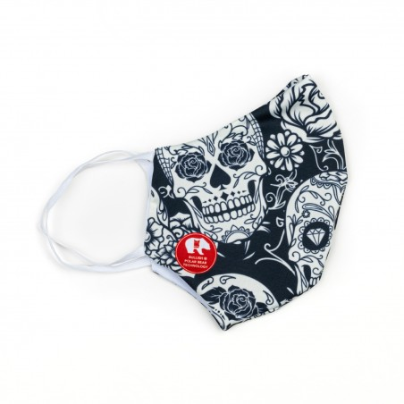 Mascherina Blu skulls - Donna Bullish Made in Italy